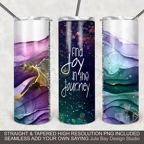 Alcohol Ink Seamless Full wrap skinny - Find Joy In the Journey PNG