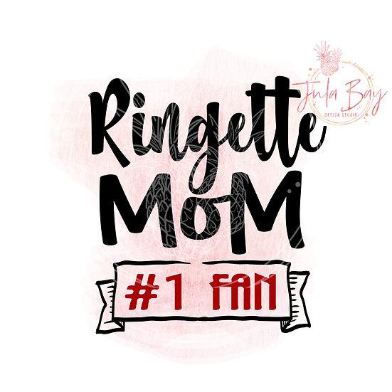 Ringette Mom Number 1 Fan #1 Fan SVG PNG DFX EPS