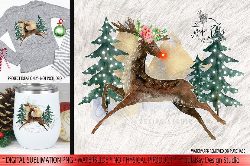 Rudolf SVG Christmas Sublimation Believe Christmas Pajamas Design