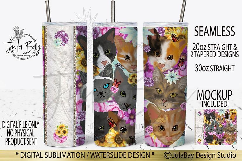 Cat Lover Skinny Tumbler Design PNG Vet Tumbler Design