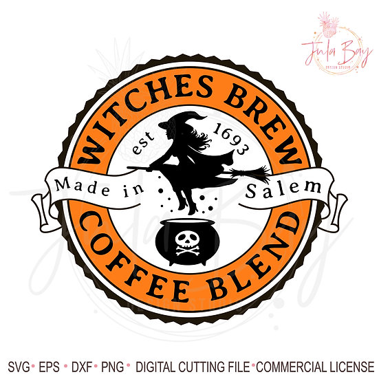 Witches Coffee Blend SVG - Halloween Coffee Mug Design PNG