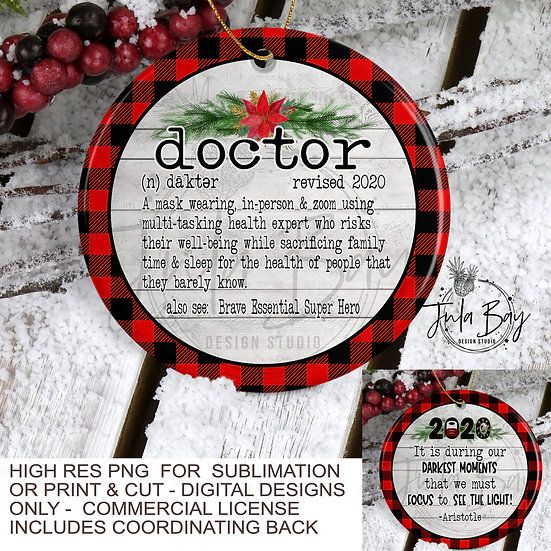 2020 Christmas Ornaments For Doctors PNG Social Distancing Doctor Defintion