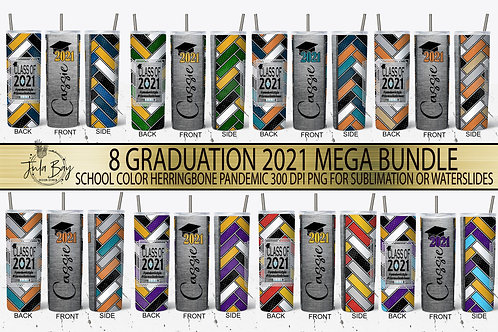 Graduation Skinny Tumbler Designs For Sublimation Class of 2021 Pandemic Grad