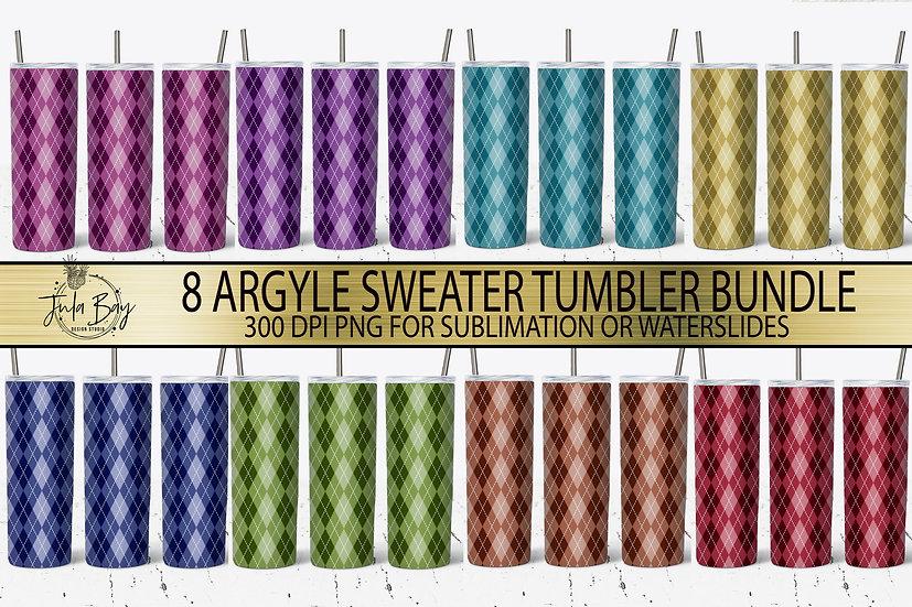 Argyle Skinny Tumbler Sublimation Design Tumbler Bundle!