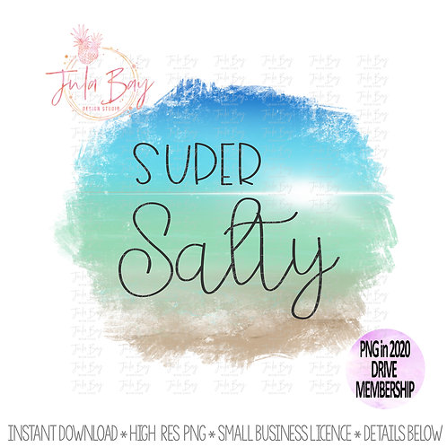 Super Salty Beach Clipart Original Art Sublimation Design PNG