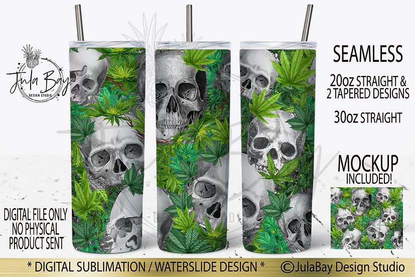 Cannabis Skinny Tumbler Sublimation Design Tumbler Wrap Marijuana Pot PNG