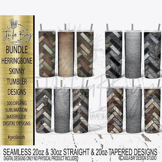 Masculine Skinny Tumbler Bundle PNG Herringbone Skinny Tumbler Templates Full Tu