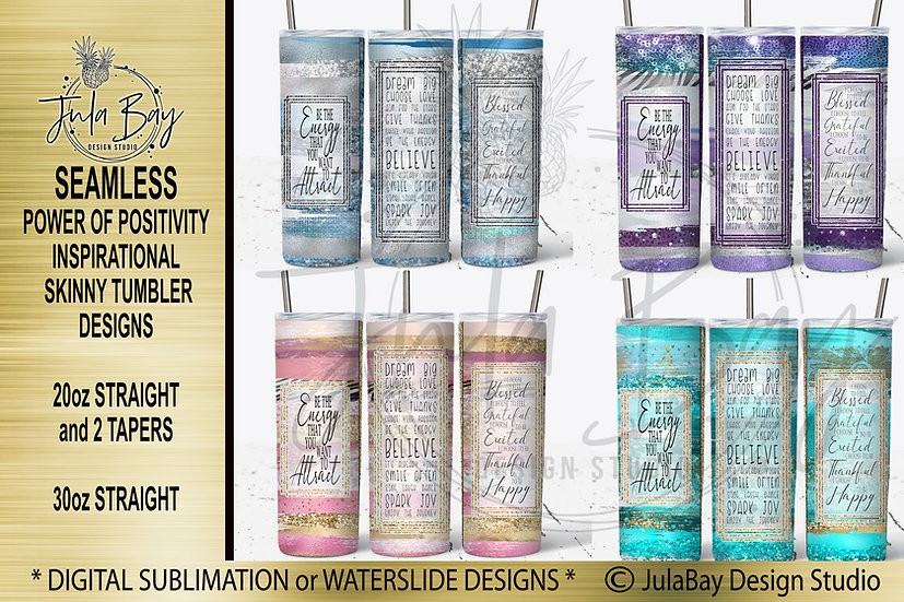 Paint Brush Strokes Skinny Tumbler Wrap PNG Tumbler Full Designs Inspirational
