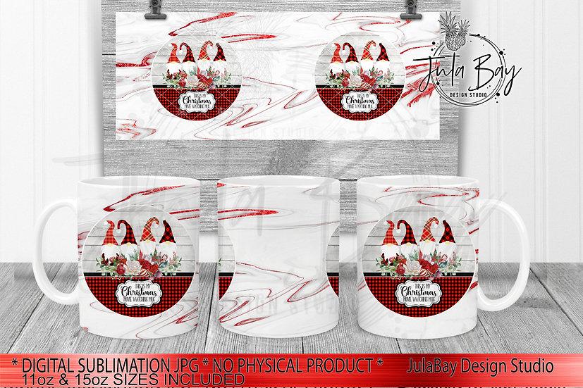 Christmas Movie Watching Mug Full Wrap PNG for 11oz Coffee Mug Gnomes Buffalo