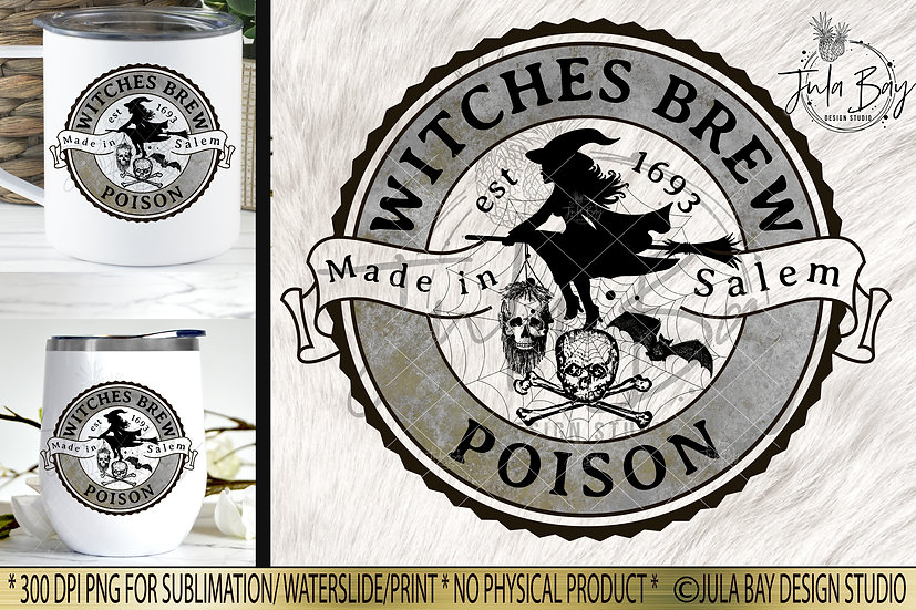 Witches Brew Poison Halloween Label PNG Potion Label Elixir