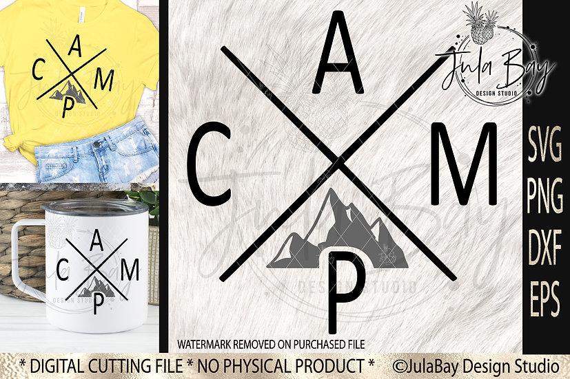 Modern Camping Tshirt Design CAMP SVG Mountains Sublimation Design