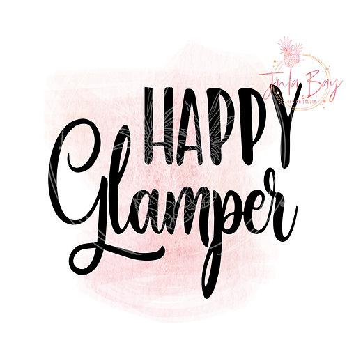 Happy Glamper SVG PNG EPS DXF