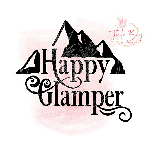 Happy Glamper SVG PNG EPS DXF with Mountain