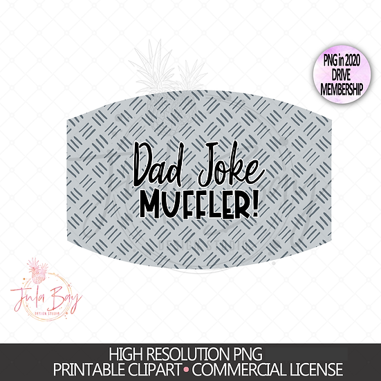 Dad Muffler Funny Face Mask PNG Design for Sublimatino