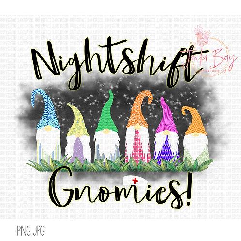 Nightshift Gnomies Nursing Clipart 6 Nurse Gnomes PNG TShirt Mug Design