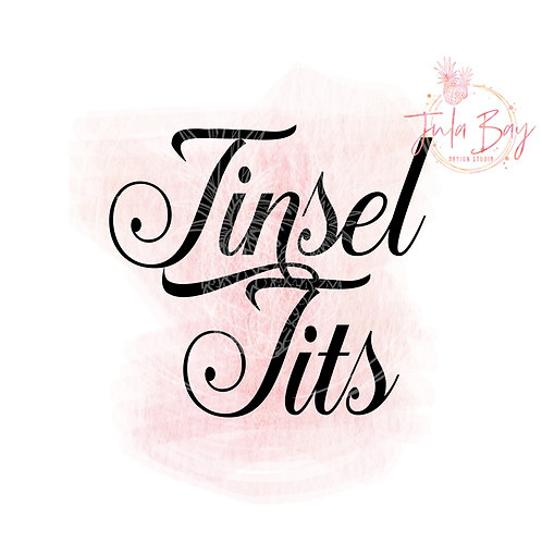 Tinsel Tits SVG PNG DFX EPS Cut File Funny Christmas Cutting File