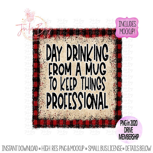 Funny Coffee Mug Day Drinking Sublimation Design PNG Clipart