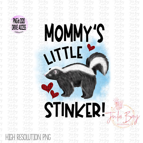 Mommy's Little Stinker Sublimation Graphics Original Art PNG Clipart