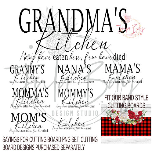 Cutting Board Sayings PNG - Many have eaten here few have died Sublimation