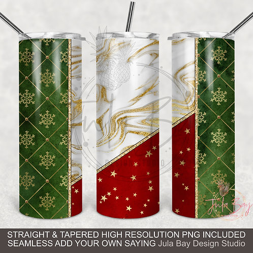 Christmas Seamless full wrap tumbler sublimation design for 20oz Skinny Tumblers