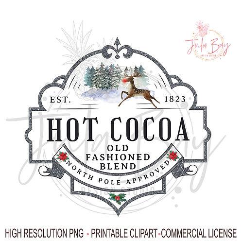 Hot Cocoa Christmas Sublimation Design Instant Download Cricut Silhouette