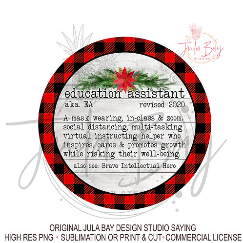 2020 Christmas Ornaments For EA Education Assistant Social Distancing