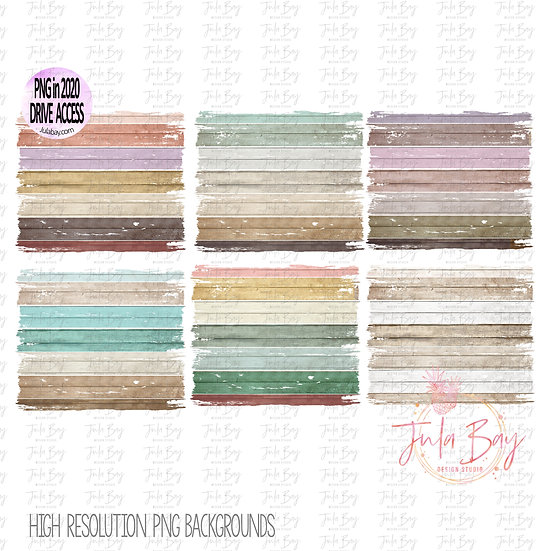 Wooden Frame Sublimation Background Clipart - Colorful Rustic