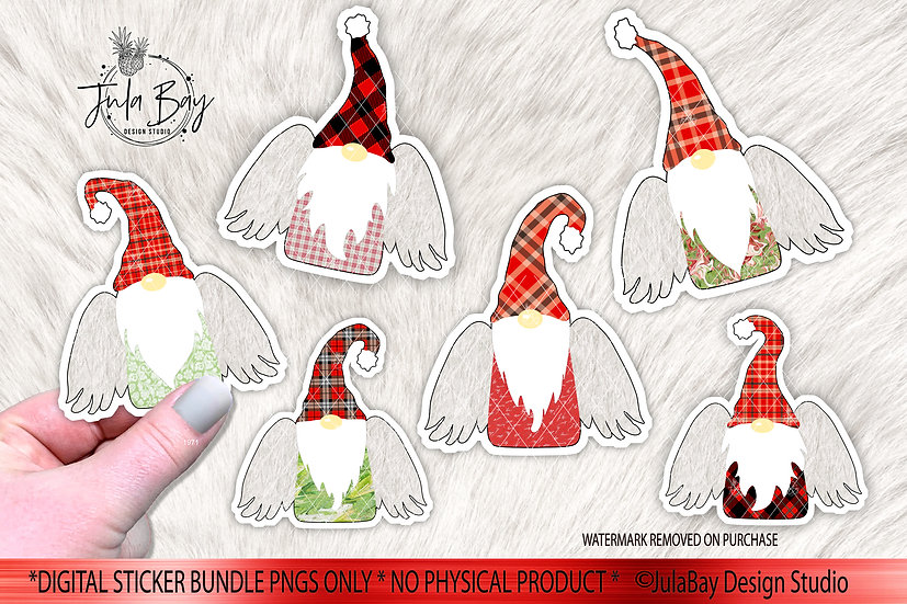 Gnome Angels Printable Sticker Bundle - Print and Cut PNG