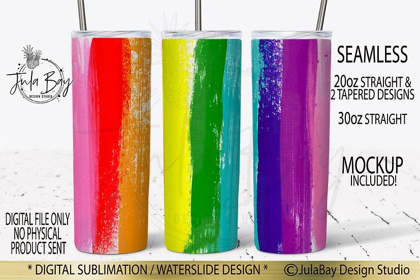 Rainbow Tumbler Design LGBTQ Tumbler Wrap Rainbow Halftone