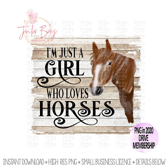 Girl who loves horses Sublimation PNG Watercolor Horse Clipart