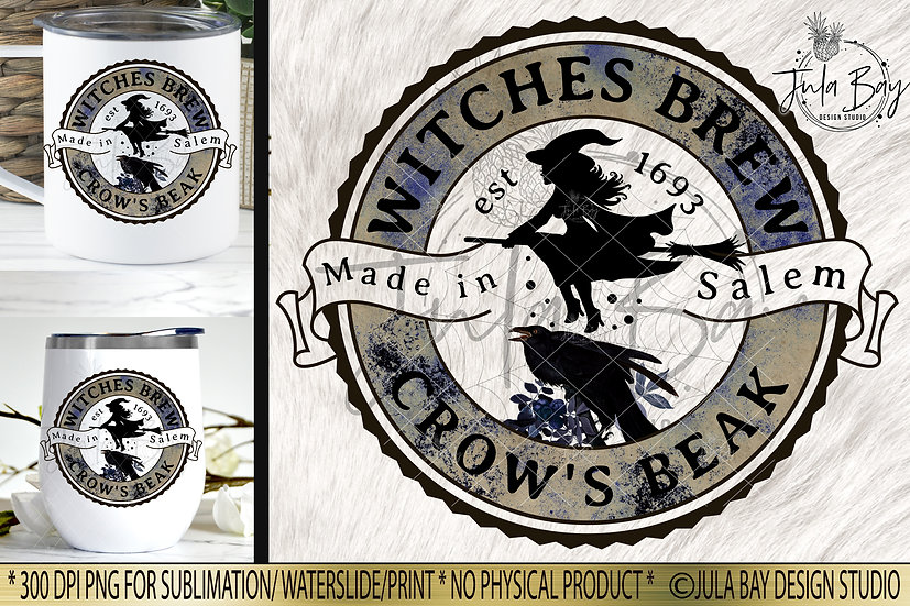 Witches Brew Crow's Beak Halloween Label PNG Potion Label Elixir