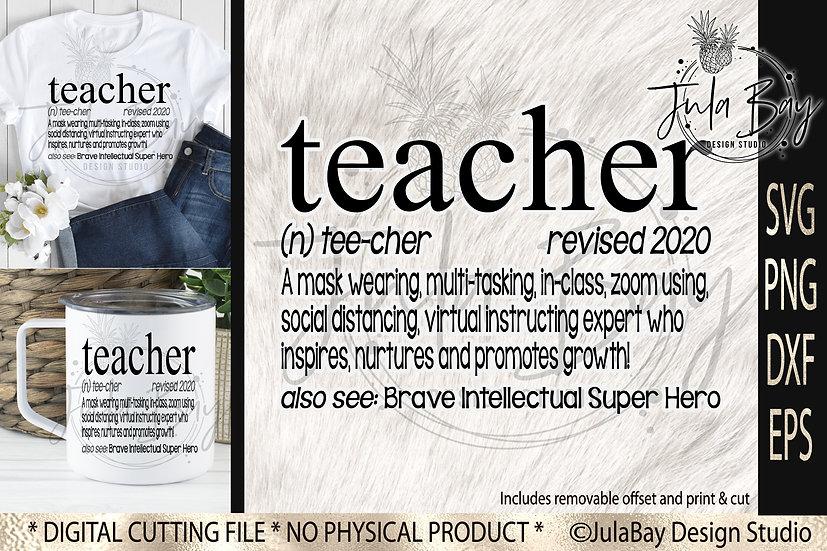Teacher 2020 SVG Covid Zoom Social Distancing Online Teacher Definition