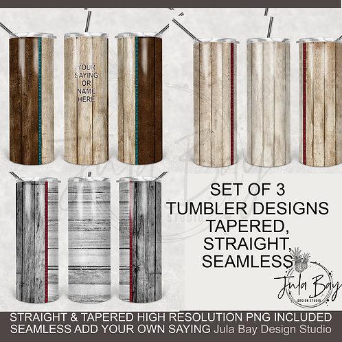 Woodgrain Wooden Tumbler Designs Skinny Tumbler Full Wrap PNG Bundle