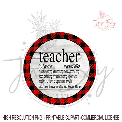 2020 Teacher Definition PNG Social Distancing Teacher Mask Wearing - Mug Design