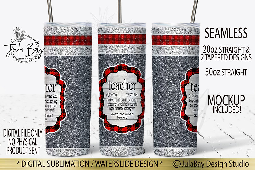Sock Monkey Full Wrap Teacher Covid Definition Sublimation Skinny Wrap PNG