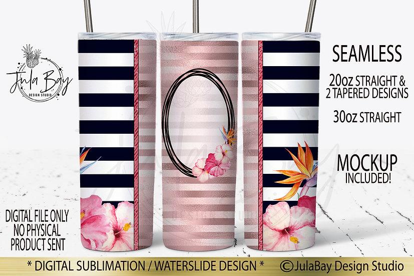 Tropical Flowers Skinny Tumbler Design Full Skinny Tumbler Wrap Hawaiian Flowers