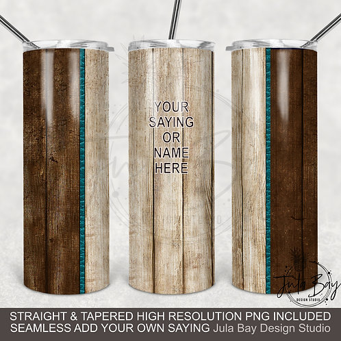 Two Tone Wood Grain Seamless Tumbler Design Sublimation PNG 20oz Skinny Tumbler