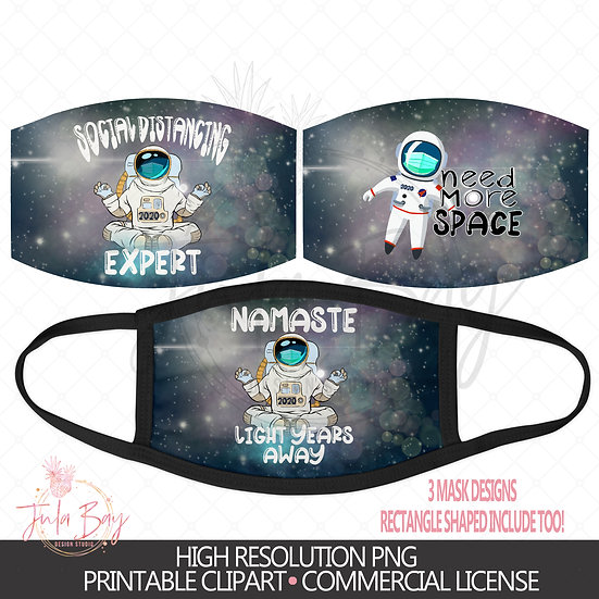 Astronaut Space lover Mask Designs - Back to School Boy Mask Designs
