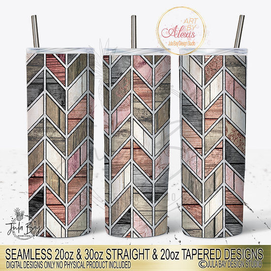 Shabby Chic Rose Woodgrain Chevron Tumbler Template Art By Alexis Tangram