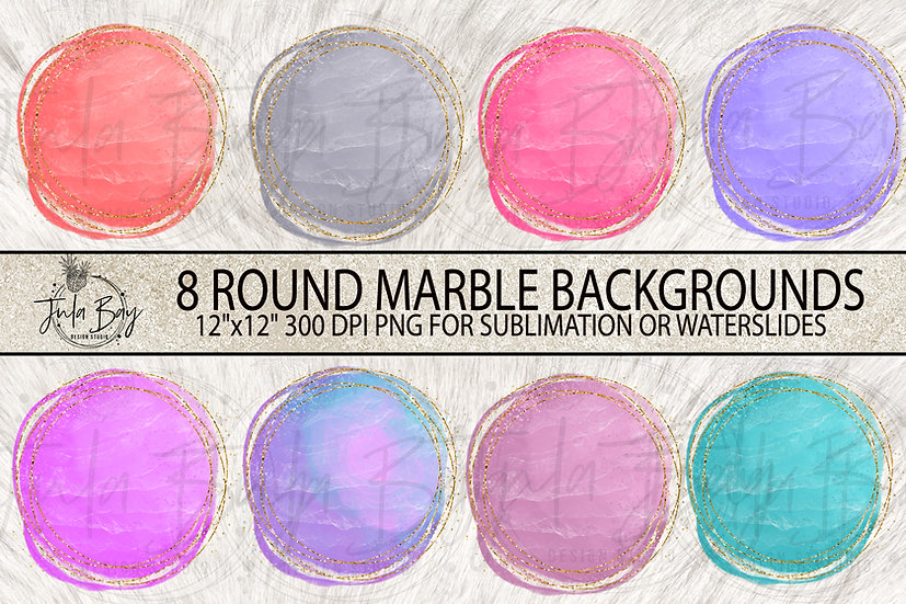 Round Marble Grunge Glitter  Sublimation Background Designs PNG