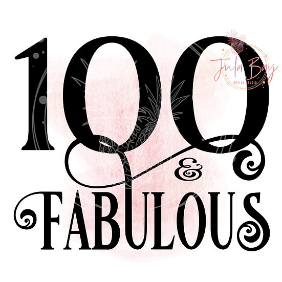 100 and Fabulous SVG PNG EPS DXF