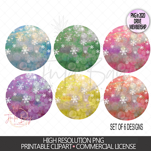 Winter background rounds with snowflakes - sublimation background