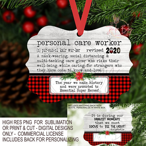 Personal Care Worker PNG 2020 Christmas Ornament Pandemic Definition