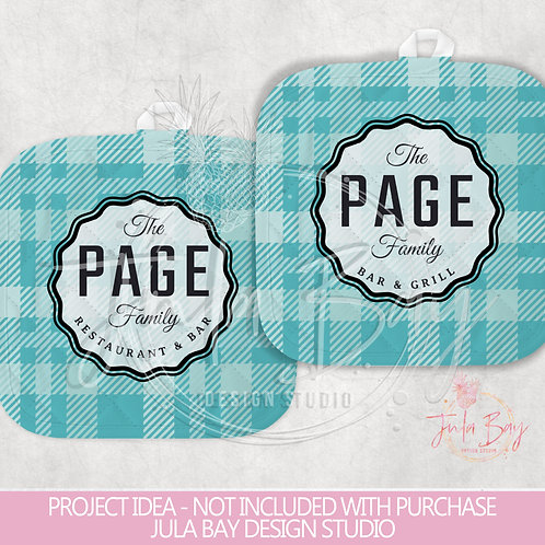 Customizable Pot Holder PNG Design Your Family Restaurant and Bar Plaid