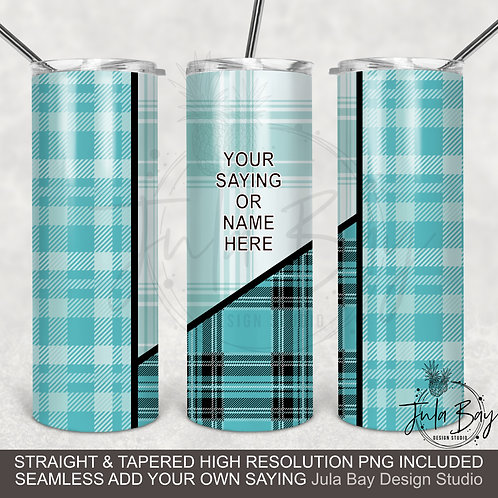 Plaid Flannel Full Seamless Tumbler Design PNG Sublimation Design Tapered Skinny