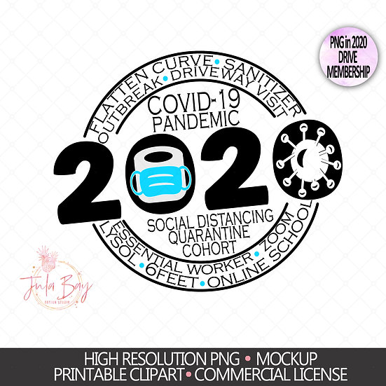 2020 Keepsake PNG Ornament Sublimation Design - 2020 Keepsake Ornament - To