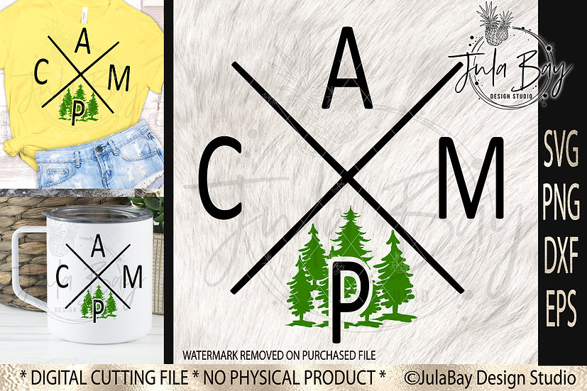 Modern CAMP SVG Camping Tshirt Design Sublimation and Cut File