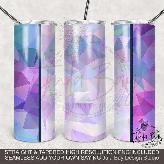 Geometric Retro Full Wrap PNG Sublimation Design Skinny Tumbler
