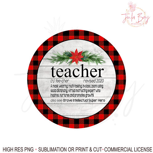 2020 Christmas Ornaments For Teachers PNG Social Distancing Teacher Definition