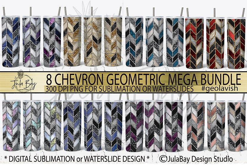 Chevron Tumbler Template Bundle 8 DESIGNS Red Gold Teal Purple Pink #geolavish